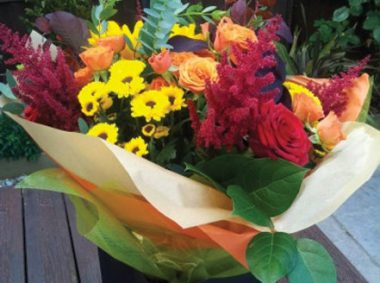 Exotic colourful flowers