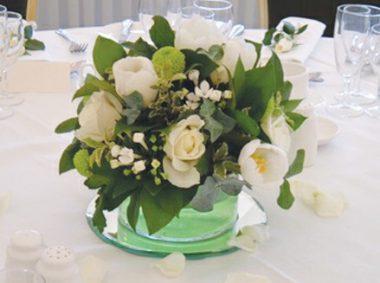White flowers centrepiece