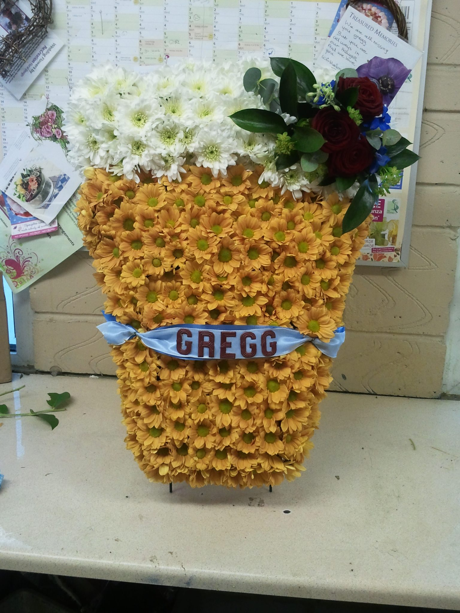 Funerals tributes recreation flowers beer funeral tribute 95 izmirmasajfo Gallery