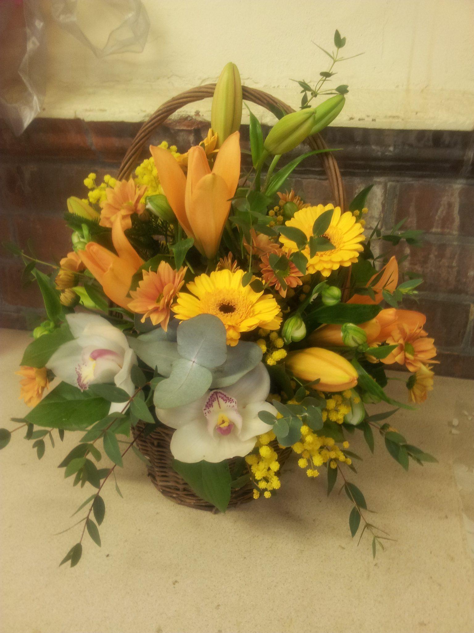 Funerals tributes recreation flowers basket of flowers 35 izmirmasajfo Gallery