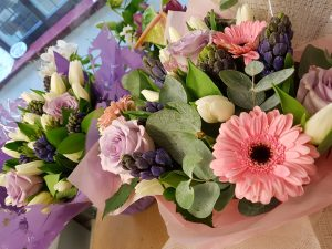 pinks and lilac handtieds from £25