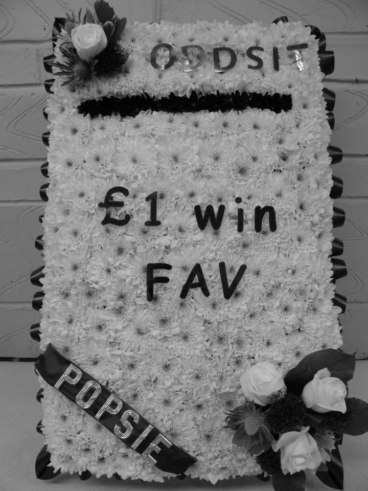 betting slip funeral flowers